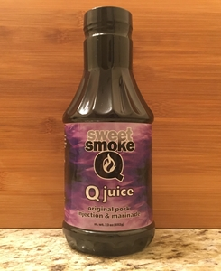 23oz Sweet Smoke Q JUICE - Pork Sauce, BBQ, BBQ Sauce, Sweet BBQ, Sweet Heat, Sweet, Award Winning, Food, Barbecue, Best BBQ, Award Winning BBQ, Competition, Competition BBQ, Pitmaster, Pork, Beef, Butt, Ribs, Steak, Wings, Hot Wings, BBQ Wings, Chicken, Grill Sauce, Award Winning Sauce, Award Winning Rubs, Rubs, BBQ Rub, Blues Hog, Heath Riles BBQ, Kosmos Q, Eat BBQ, Sweet Smoke Q, Oakridge BBQ, University of Que, Sweet Swine o' Mine, Plowboys BBQ, Boars Night Out, Cimarron Docs, The Shed, Meat Mitch, Killer Hogs, Steak Cookoff Association, Pancho & Lefty, All Qued Up, Tuffy Stone Cool Smoke, Lotta Bull BBQ